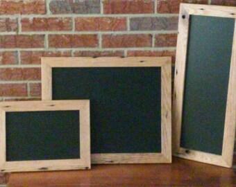 Handcrafted Barnwood Chalkboard-Reclaimed Oak Frame