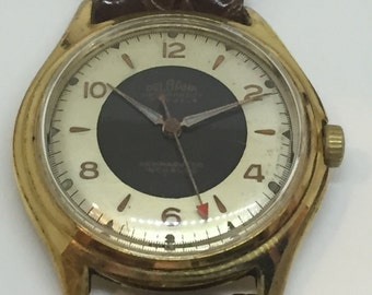 Delbana Gold Filled Mechanic Vintage Watch With Stunning Dial