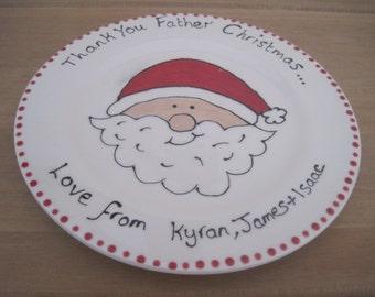 """8""""  Father Christmas Plate"""