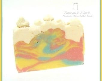 Monkey Farts- Handmade Cold Process Soap with Sweet Almond Oil and Vitamin E