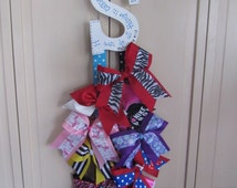 "Custom Cheer Bow Holders/9"" Letter"