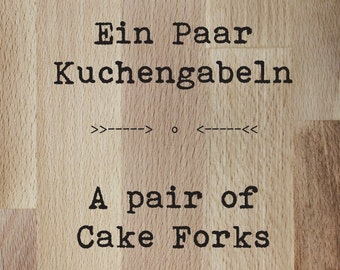 Request label - a few cake forks / custom order - one pair of cake forks