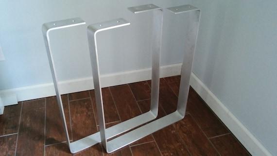 Aluminum u shape table leg dining room patio by for U shaped dining room table