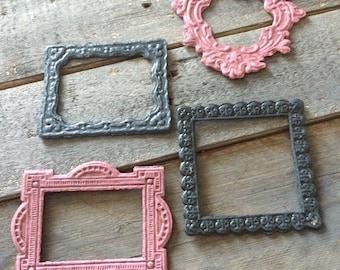 Set of 4 chipboard frames