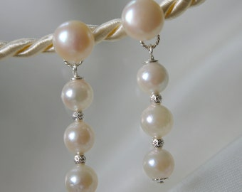 Akoya pearls freshwater pearls, Akoya pearl earrings ear studs earrings
