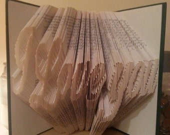 I love you book folding pattern