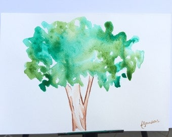 In The Tree Tops Watercolour Wall Art