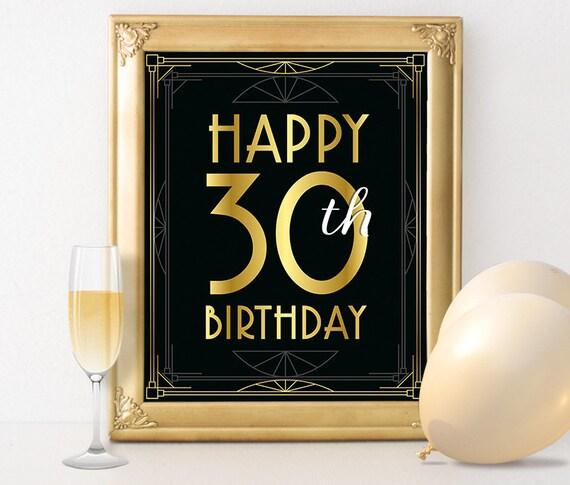 30th Birthday Printables Happy 30th Birthday Sign 30
