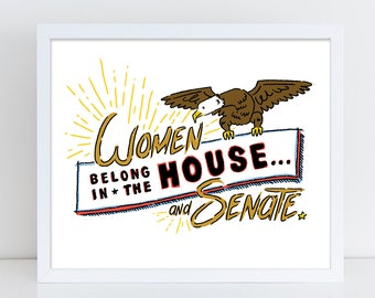 Women's House & Senate Print
