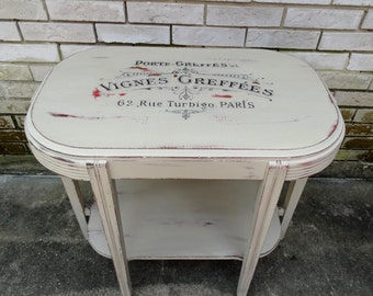 Distressed French Accent Table