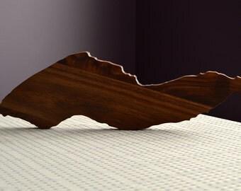 Ikaria Shaped Walnut Wood Cutting Board/Decor