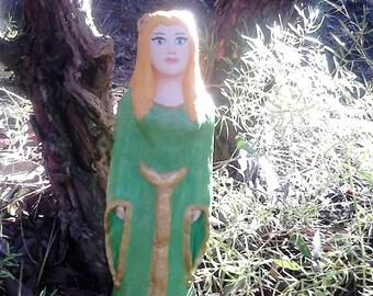 Spring goddess, Celtic Goddess, Ostara, goddess statue, pagan figurine, wheel of the year, Avalon,  Artha, ooak sculpture, pagan altar