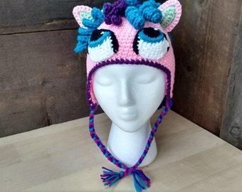 Adorable little pony child's winter hat