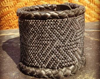 Geometric Leather Cuff