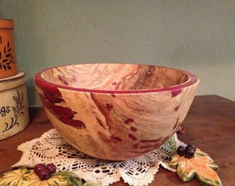 Red Inlay Apple Bowl 3219