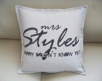 One Direction - Harry Styles - hand made pillow case 1D