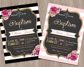 Baptism Invitation Girl, Baptism Invitation Printable, baptism invites, baptism girl invitations, christening girl, baptism for girl