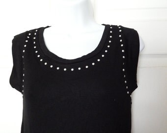 Black Studded Lace (Large)