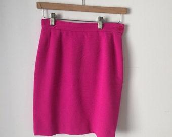 Yves Saint Laurent Hot Pink Mini Skirt