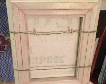 Vintage picture frame cork board