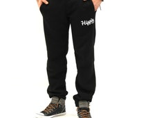 Mens Hippie Surf Joggers Black