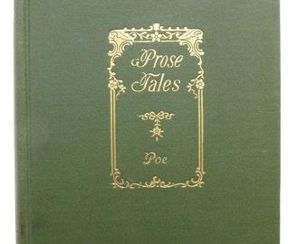 The Prose Tales Of Edgar Allan Poe Antique Vintage Book