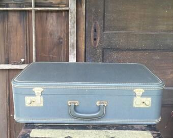 Grey Vintage Suitcase