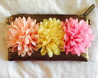 chiffon flower wristlet