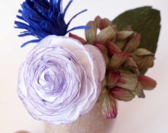Crepe Paper Arrangement Kit - Hydrangea, Thistle, Ranunculus