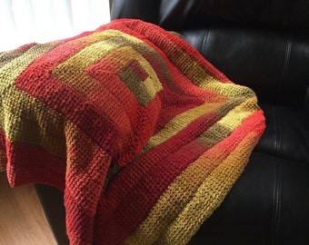 Red Spiral Baby Blanket