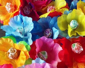 12 Super Cute DumDum Flower Cupcake Toppers