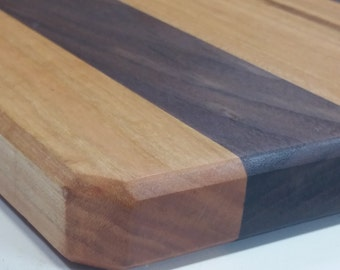 Cherry and Walnut Cutting Board