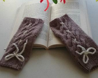 Winter Fingerless Gloves /Winter Gloves / Winter Mittens / Arm Warmers / Gloves & Mittens /// ShowyHandMade