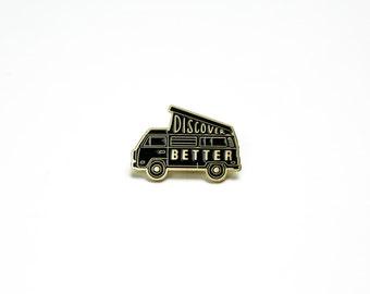 DISCOVER BETTER Molehill Enamel Pin