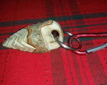 Natural wooden tree keychain