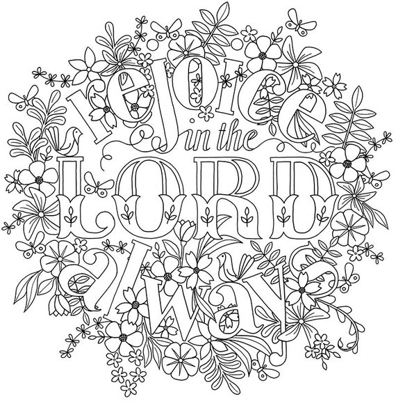 adult colouring page bible verse philippians 4 instant colouring in download from