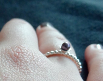 Sweet Silver Ring with Freshwater Pearl