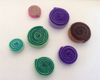 7 felt craft spirals