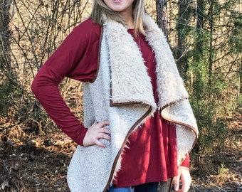 Adorable Faux Fur Vest - LARGE