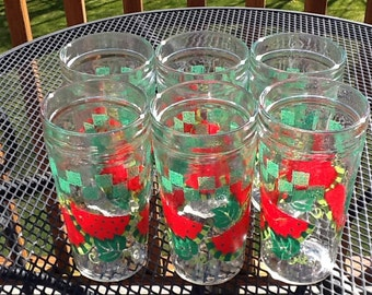Drinking Glasses W/ Watermelon Slices