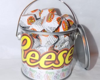 American Reese's peanut butter white miniatures Easter gift pot