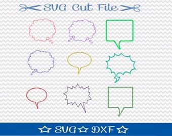 Talk Bubble SVG / SVG Cut File / Cut File for Silhouette / Vinyl Cutting File /  Speech Bubble SVG