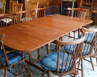 vintage ethan allen dining room set