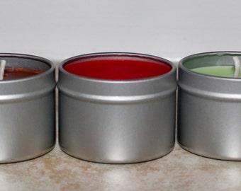 All Natural Soy Candle, 2oz Tin Sample Fragrance(INDIVIDUAL ORDER)