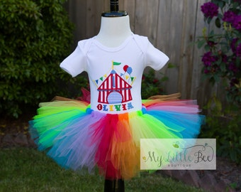 Birthday Circus Tent Tutu Set -Birthday Party outfit- Circus Birthday set - Carnival theme- First Birthday outfit
