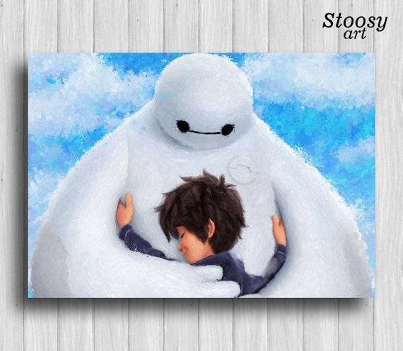 Big Hero 6 Print Baymax Poster Disney Nursery Decor