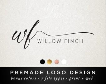 Logo Design - Premade Logo - Calligraphy Font - Initial Logo - Modern Minimal Design - Shop Logo Custom Design - Signature Typography 21