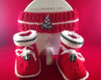 Christmas Headband and Booties