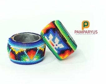 Rings for napkins Huichol