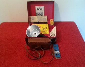 Vintage Ansco Viking Readyset Folding Camera With Case All Original